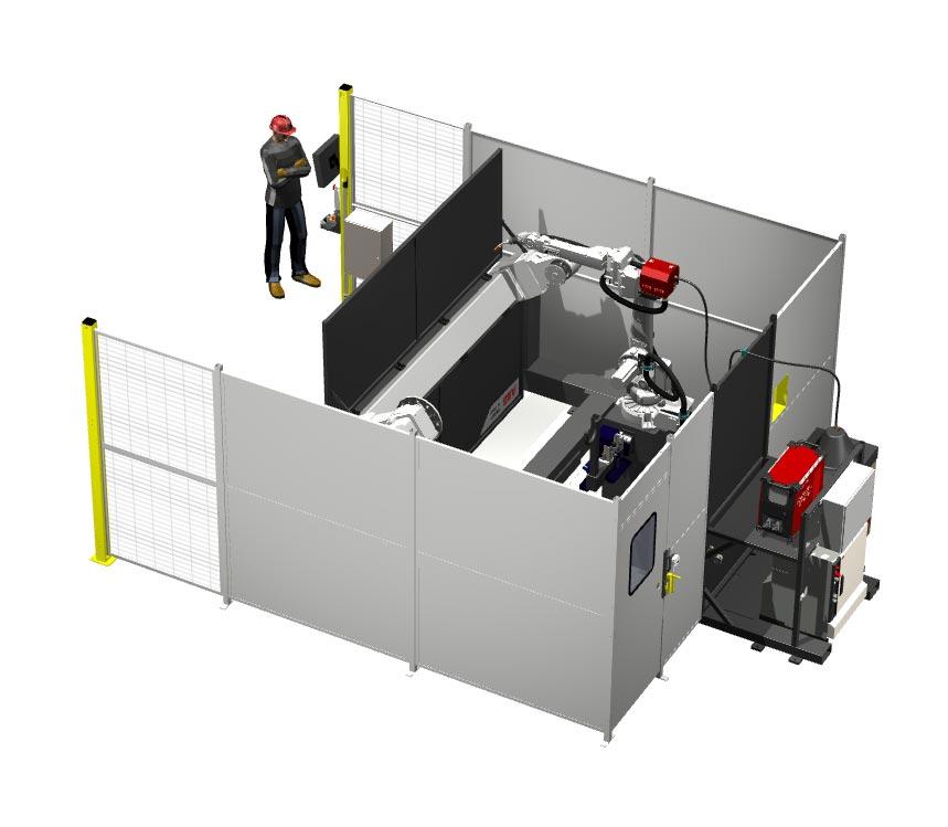 Ferris Wheel Pre-engineered Robotic Welding System